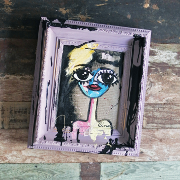 Chalkpainting original - ANNIKA, 1990sek (40x45cm)