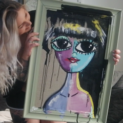 Chalkpainting original - AGNES, 3990 sek (70x49cm)
