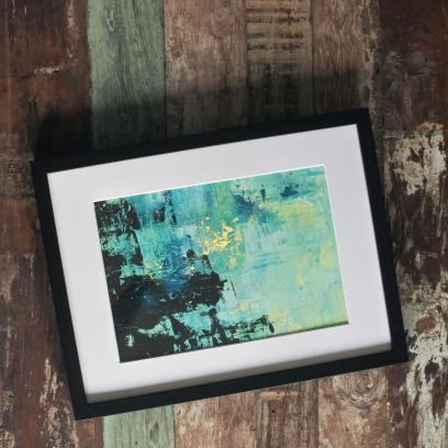 Handmålad poster - 'Sunset' - A3 Akryl, 450kr