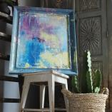 Chalkpainting (& Akryl) original - BLUES, 4390kr (76x64cm)