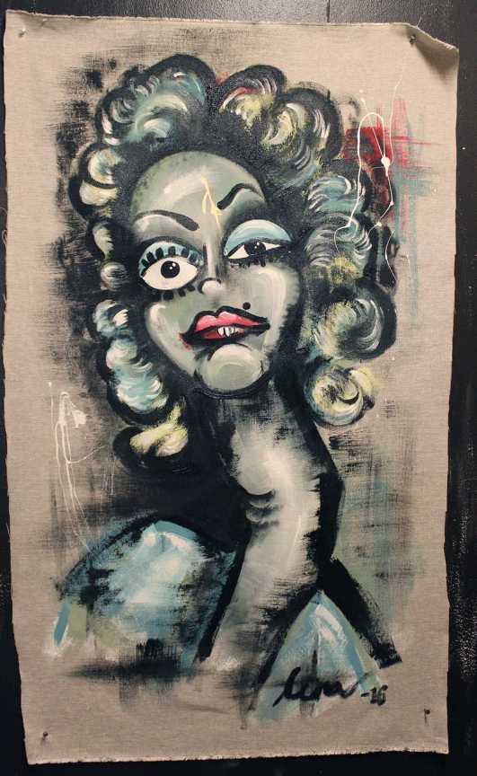 Chalkpainting - Patsy