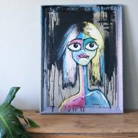 Chalkpainting - Frida