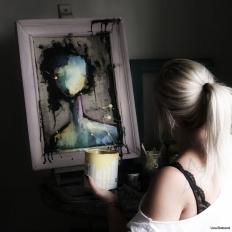 Chalkpainting Original - NO FACE NANCY, 3860 sek (62x47cm)