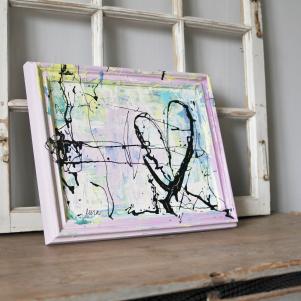 Chalkpainting Original - iHEART, 3160 sek (42x34cm)