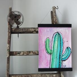 Handmålad poster - Kaktus 2, A3 Akryl - 350kr