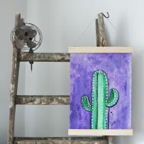 Handmålad poster - Kaktus 3, A3 Akryl - 750kr