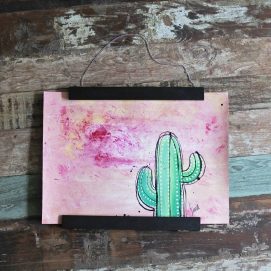Handmålad poster - Kaktus 4, A3 Akryl - 350kr