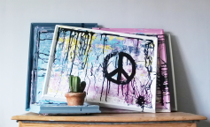 Chalkpainting original - PEACE, 3970 sek - Life becomes a masterpiece when you learn how to master peace