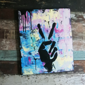 Acrylic - PEACE OUT, 2990 sek (60x50cm)