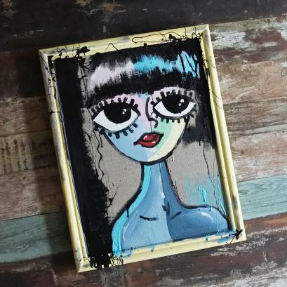 Chalkpainting original - CAROLINE, 3490sek (53x40cm)