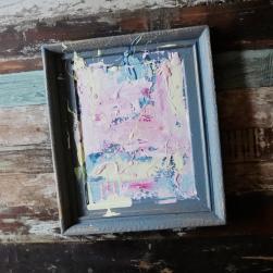 Chalkpainting original - Denim, 3490 sek (50x43cm)
