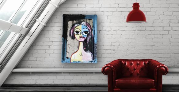 Så här skulle Alice kunna se ut mot en rustik vägg.